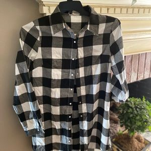LONG SLEEVES TOP BUFFALO CHECK PEARL SNAP LONG SZM